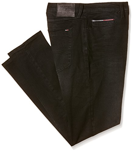 Hilfiger Denim Herren Jeanshose Slim Tapered Steve Brabst Schwarz (BRADFIELD BLACK STRETCH 971)