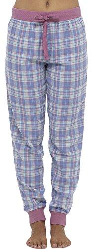 Lora Dora Pyjamahose für Damen, Nachtwäsche, leger, Loungehose, Kariert, Schlafanzug Plum Waist Band