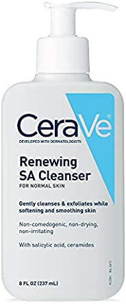CeraVe Salicylic Acid Cleanser | 8 Ounce | Renewing Exfoliating Face Wash with Vitamin D for Rough and Bumpy S