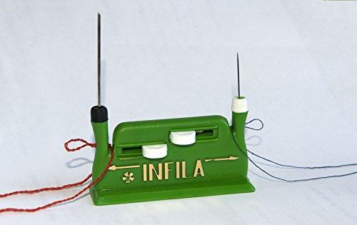 Parodi&parodi infila aghi, art. 690, macchina infila ago manuale automatica per macchina da cucire, utilizzabile sia per aghi grossi che fini, portatile e leggera, brevetto made in italy
