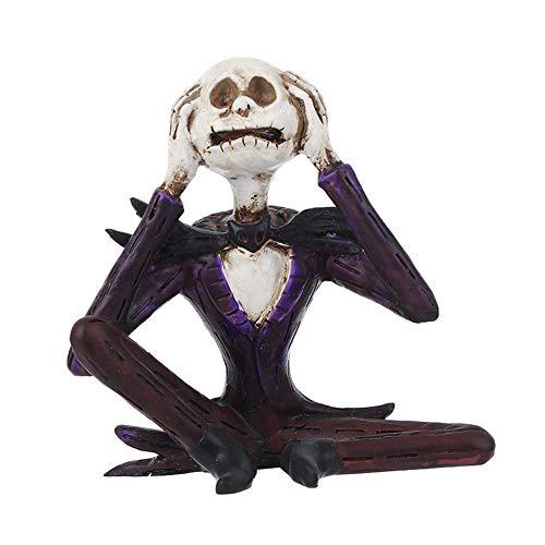 Halloween des Grauens zum Schädel Skelett,elecfan Halloween Skull Human Skull Model Halloween Dekoration Party Halloween Bar Dekoration Haunted House Halloween Deko Grusel Dekoration Skull Statues,A12
