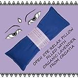 Bio Lavendel Leinsamen Augen Relaxkissen Augenmaske Yoga Kissen versch. Farben