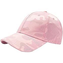 Weimay. Gorra de béisbol de Color Sólido Visera Clásica Estilo Retro Deportes al aire Libre Adecuados para Hombres y Mujeres Rosa