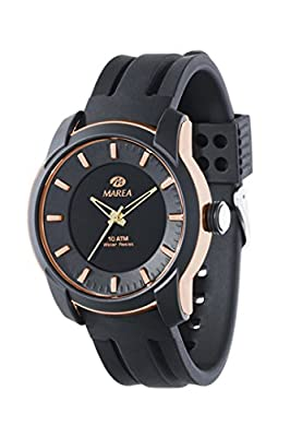 Reloj Marea B40171/1 Caballero, caucho, caja color rosse, esfera color negra, sumergible.