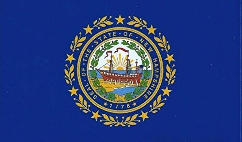 StickerTalk® 12,7x 7,6cm New Hampshire stato bandiera paraurti adesivo decalcomania finestra adesivi decalcomanie