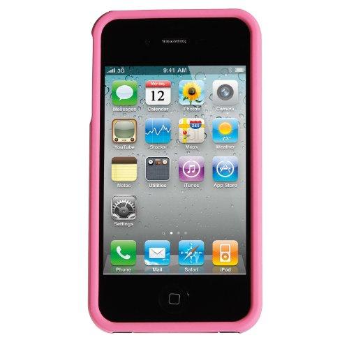 wortek Schutzhülle dreiteilig Apple iPhone 4 / 4S Hülle Hardcase 3 Part Schwarz Lila Schwarz/Rosa