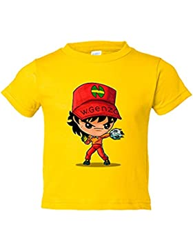 Camiseta niño Chibi Kawaii Benji Price parodia de Campeones Nikochan