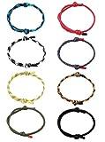 Yadoca 8 Stück Geflochtene Armbänder für Mann Frau Marine Seil Schnur Armband Handgemachtes Armband Bunte Einstellbar