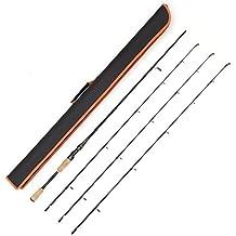 Caña de pescar de dos piezas con juego de tres partes superiores con diferentes niveles de potencia: medio pesado, medio y medio ligero, de Entsport-, 7' Spinning Rod with 3 Top Pieces with Fishing Bag