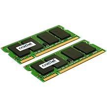 Crucial - Memoria RAM de 4 GB (2 GB x 2, DDR2 SDRAM, 800 MHz)