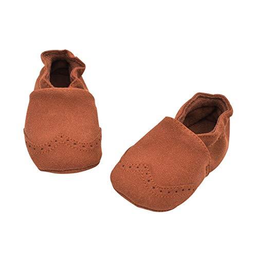 DEBAIJIA Weiches Leder Baby Jungen Mädchen Schuhe Wildleder Kleinkinder Schuhe Weiche Sohle Rutschfeste Mode Lässig Prewalker Schuhe Geeignet für 6-18 Monate Kleinkind Slip-On-Verschluss 3 Schwarz Suede Schuhe