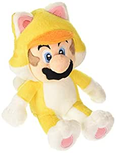 Super Mario Bros 22 cm Official Sanei Mario 3D World Cat Mario Plush Toy [import anglais]