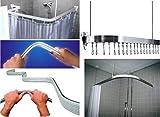 Mainstream by Aqualona Binario ad angolo per tenda da doccia, antiruggine, flessibile e regolabile a forma di U/L/P