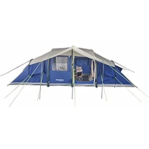 neumayer – inflatable family/group tent xxl – model tahiti – 2-4-6-8-person air-rise-tent – 7 m x 2,8 m - 19,6 sqm ground sheet – 2 separate sleeping cabins + lounge - 2 m standing height - silicon treated