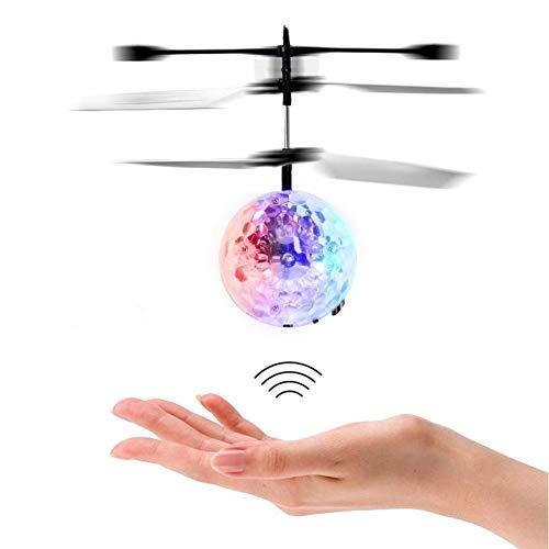 Flying Ball Fliegender Helikopter Ball RC induktion Heliball Ferngesteuerte mit farbwechselnden LED-Lichtern Indoor Outdoor Spiele für Kinder Jugendliche