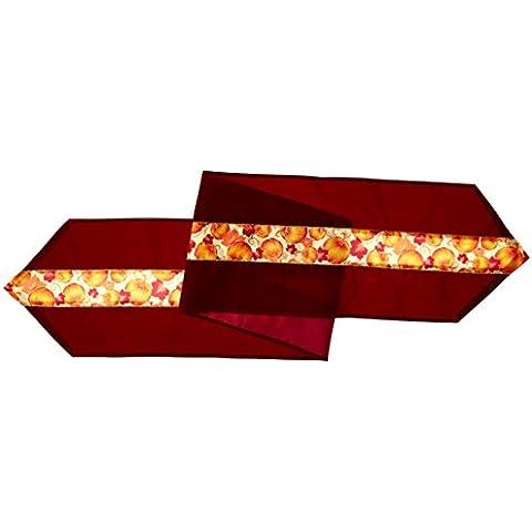 Beistle - 90187-Runner da tavola, motivo foglie d'autunno, in tessuto, confezione da (Autumn Leaves Tessuto)