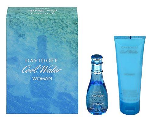 Womens Cool-sets (Davidoff Cool Water Woman Geschenkset für Sie (EdT Spray 30ml + Body Lotion 75ml))