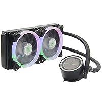مبرد مبرد دوكولر بايونير 240L وحدة المعالجة المركزية 240 مم مبرد مبرد مبرد مبرد ثنائي التبديد PWM مروحة تبريد لآثار الكمبيوتر Intel/SOCKet/1155/1156/1151/2011/2066/X79/X58/AMD/Am4