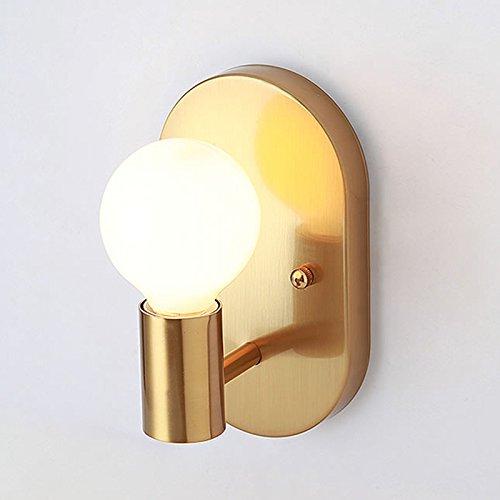 GUORZOM Ovale Metallwandlampe Moderne LED-Schmiedeeisen-Wandlampe, Die Gelbe Retro- Wandlampe E27 Überzieht (Birne Gold-wandhalterung)