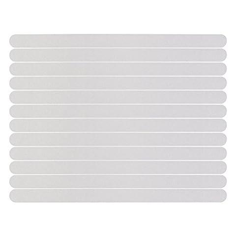 NUOLUX 12pcs Non Slip Strips Stickers for Bath Shower (White)
