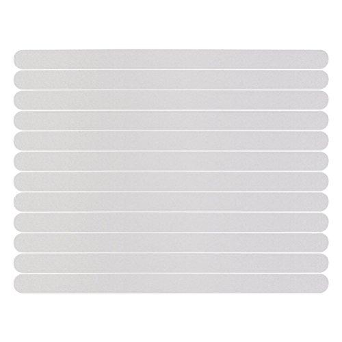 UEETEK 12pcs Dusche Laufflächen Streifen Anti-Rutsch-Sticker für Bad Shower(White)