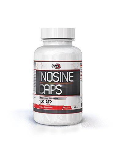 Pure Nutrition INOSINE CAPS 500 mg 100 Kapseln Energiestärke Ausdauer Booster Pre Workout Sports Supplement Muskelaufbau Transportiert mehr Sauerstoff zu den Muskeln Premium Qualität Made in USA -