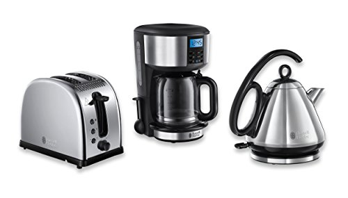 Russell Hobbs Frühstück-Set 3-tlg. Kaffeemaschine + Wasserkocher + Toaster Legacy Serie