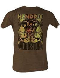 Jimi Hendrix - - Hommes Message J T-shirt En Mocha Heather