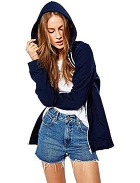 OverDose las mujeres de manga larga floral de la cremallera impresa incendio R chaqueta de traje ropa exterior...