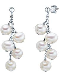 Valero Pearls - Pendientes embellecidos con Perlas de agua dulce - 925 Plata esterlina - Pearl Jewellery, Pendientes de Plata esterlina, Joyería de plata - 60201328