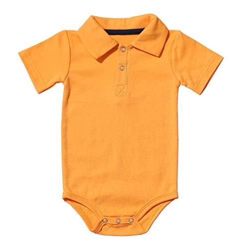 Pageantry Kleinkind Baby Mädchen Junge Outfits Einfarbig Strampler Kurzarm Spielanzug Side Snap Baby Toddler Baby Neugeborenes Kinderkleidung Sommer Kurzarm Bodys