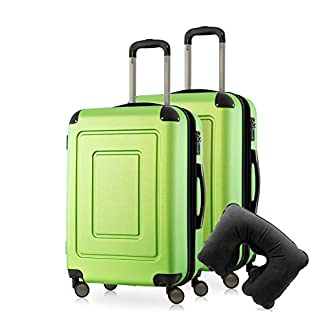 Happy-Trolley-Lugano-Hartschalen-Koffer-Trolley-4-Rollen-TSA-S-M-L-Nackenkissen