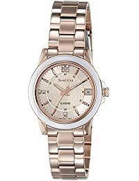 Casio 669B.03 SHE-4512PG-9A, Reloj Mujer, Oro Rosa