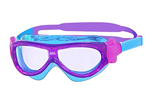 Zoggs Mädchen Phantom Kids Mask Schwimmbrille, Purple/Light Blue/Clear, One Size