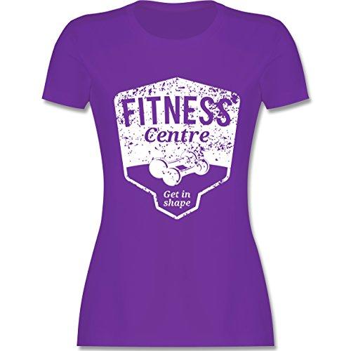 CrossFit & Workout - Fitness Centre - tailliertes Premium T-Shirt mit Rundhalsausschnitt für Damen Lila