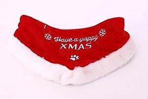 Noël Festive chien chat animal domestique Collier Bandana Foulard Coupe de poils vêtements écharpe