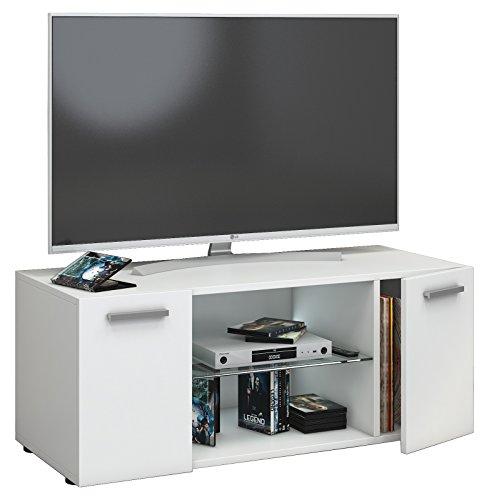 fernseh moebel VCM TV Lowboard Fernseh Schrank Möbel Tisch Holz Sideboard Medien Rack Bank Weiß 40 x 95 x 36 cm