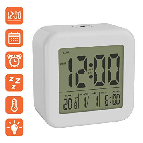 BonVIVO Digi Morning Reloj Despertador Digital Pantalla