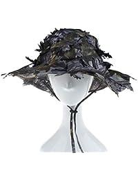 Greetuny 1x Gorro de Pescador Camuflaje Hojas Decoracion Gorra Militar  Disfraz Sombrero Hombre Paja Al Aire Libre… 233b24d10c1