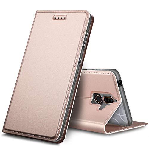 Verco Handyhülle kompatibel mit Nokia 8.1, Premium Handy Flip Cover für Nokia 8.1 Hülle [integr. Magnet] Case Tasche, Rosegold -