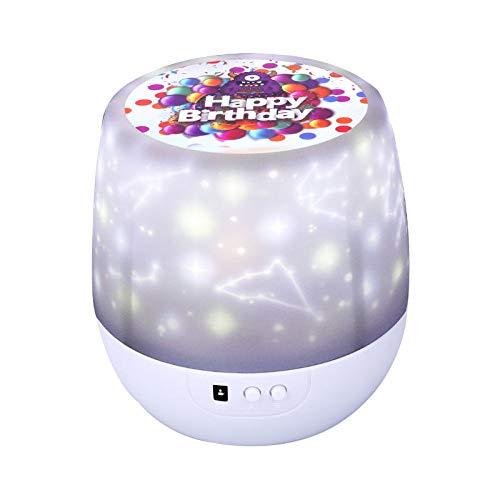 RNGNBKLS Kids Sternenhimmel Nachtlicht Projektorlampe Timer Auto-Shut Off Kinder Beleuchtung 8 Farbkombinationen 360 Grad Kinder Geschenk Zum Geburtstag,Birthday-remotecontrol (Halloween Birthday Party-jahr Alt)