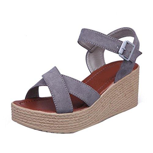 Verão Mulheres Sapatos Chinelos Cinza Inclinação loafer Saingace De Com Moda fashion Sandália w7xUqggHT