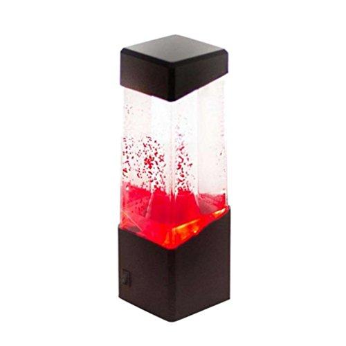 Zerama Bunte LED Quallen/Vulkan/Gelee/Fisch-Aquarium-Nachtlicht-Ausgangsdekor Atmosphären-Lampe Nicht im Lieferumfang enthalten USB-Kabel (Vulkan Led-aquarium)