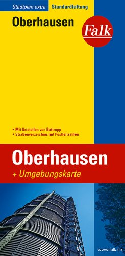 Falk Stadtplan Extra Standardfaltung Oberhausen