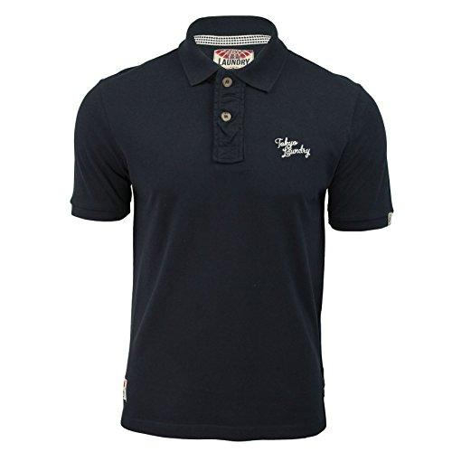 Maglietta Polo da uomo Tokyo Laundry 'sophomore' Maniche Corte Con Logo sul petto Navy/White