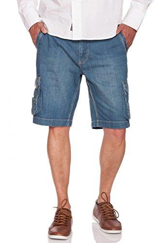 JACKS Jeans Cargo Shorts mit dehnbarem Bund in Dark Rinse oder Medium Blue Medium Blue