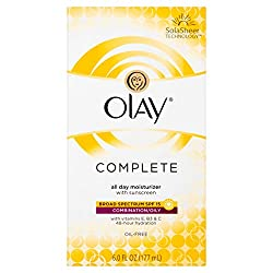Olay Complete All Day Facial Moisturizer With Sunscreen SPF 15 Combination/Oily Skin, 6 oz