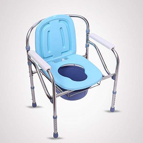 Toilettenständer, Faltbare leichte Kommode mit abnehmbarem gepolstertem Sitz und Töpfchen