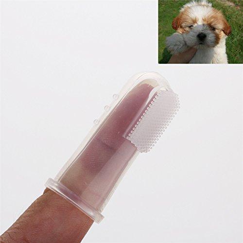 Pinzhi Weiche Haustier Finger Zahnbürste Hund Katze Zahn Reiniger Zahnpflege (10x) - 6