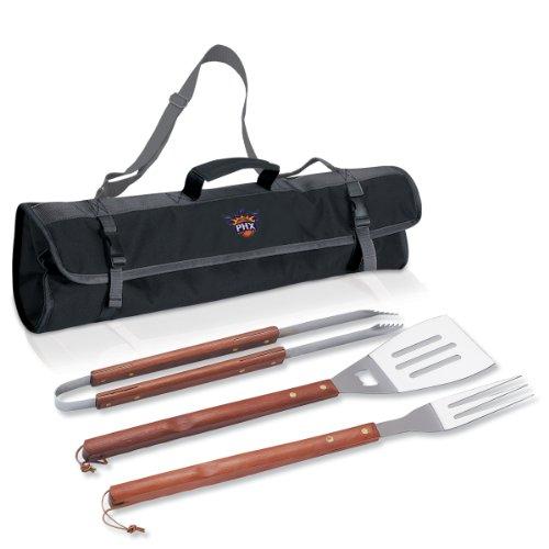 Picknick Zeit 749-03-175-244-4Phoenix suns-3-pc BBQ Tote und Tools Set, Artikel Farbe: Schwarz, One Size -